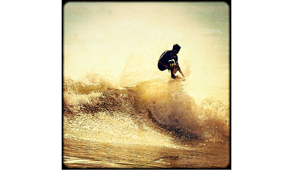 """I like this image because of an old school look to a new school move. The reason I felt it could work as an """"aged"""" image is because the surfer is captured here with so much style, and style is timeless… Photo: <a href=\""""http://www.marksainwilson.com/?splash=1\"""" target=_blank>Mark Wilson</a>"""