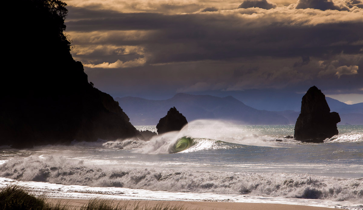 "This photo is from Cyclone Pam last summer. This Coromandel beachie only breaks once or twice a year and this day it was firing from dawn till dusk. Chances are I'll never see it this good again in my life.  Photo: <a href=""http://www.rambo-estrada.com\"">Rambo Estrada</a>"