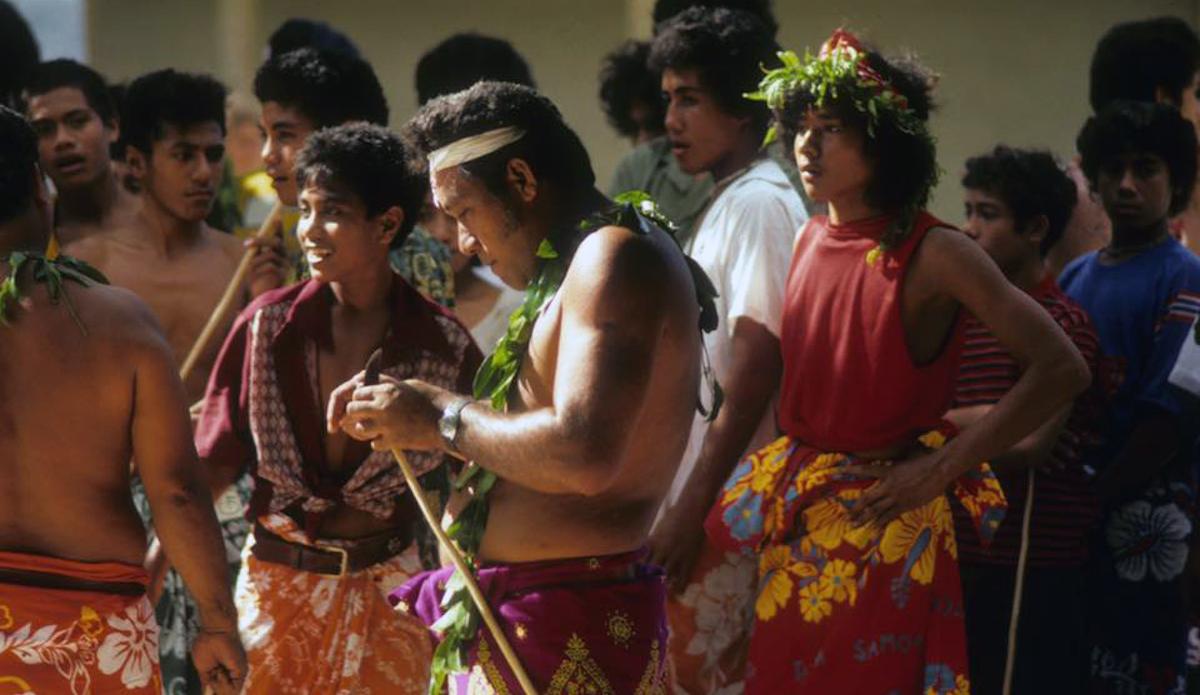 Samoan celebration at Matafao Elementary where John taught. Photo: John Ritter