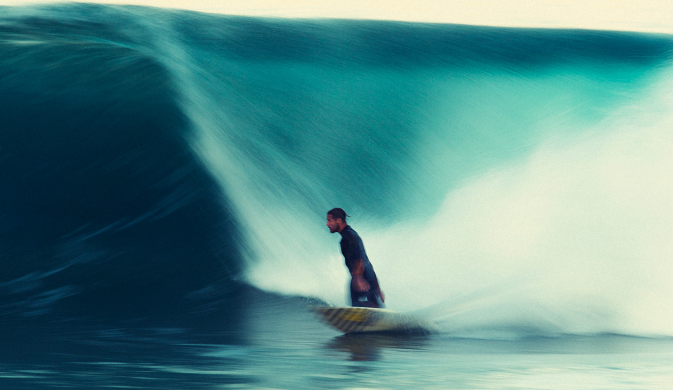 """This is Luke Stedman very late at a Sydney spot. The new Canon 1DX is a real beautiful camera for shooting low light. Its noise is next to none. Stedman being Stedman making for a cool bottom turn. Photo: <a href=\""""http://www.natesmithphoto.com/\"""" target=\""""_blank\"""" title=\""""Nate Smith Surf Photos\"""">Nate Smith</a>"""