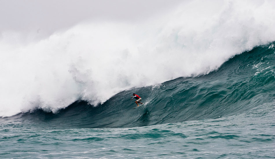 """Jun Jo on a Tyhpoon swell we chased to Japan with Red Bull a few years back. This was one crazy trip. One of the best experiences I\'ve had as a Photographer. Jun charged this wave to bits. Photo: <a href=\""""http://www.natesmithphoto.com/\"""" target=\""""_blank\"""" title=\""""Nate Smith Surf Photos\"""">Nate Smith</a>"""