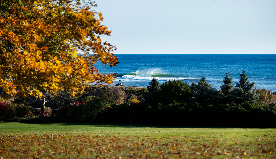 "October foliage and a clean point break surf in New Hampshire. Photo: <a href=""http://www.briannevins.com/\"" target=_blank>Brian Nevins</a>"