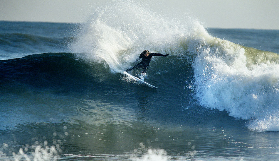 "Mike Gleason at a New Hampshire point break during a really good Thanksgiving swell. Photo: <a href=""http://www.briannevins.com/\"" target=_blank>Brian Nevins</a>"