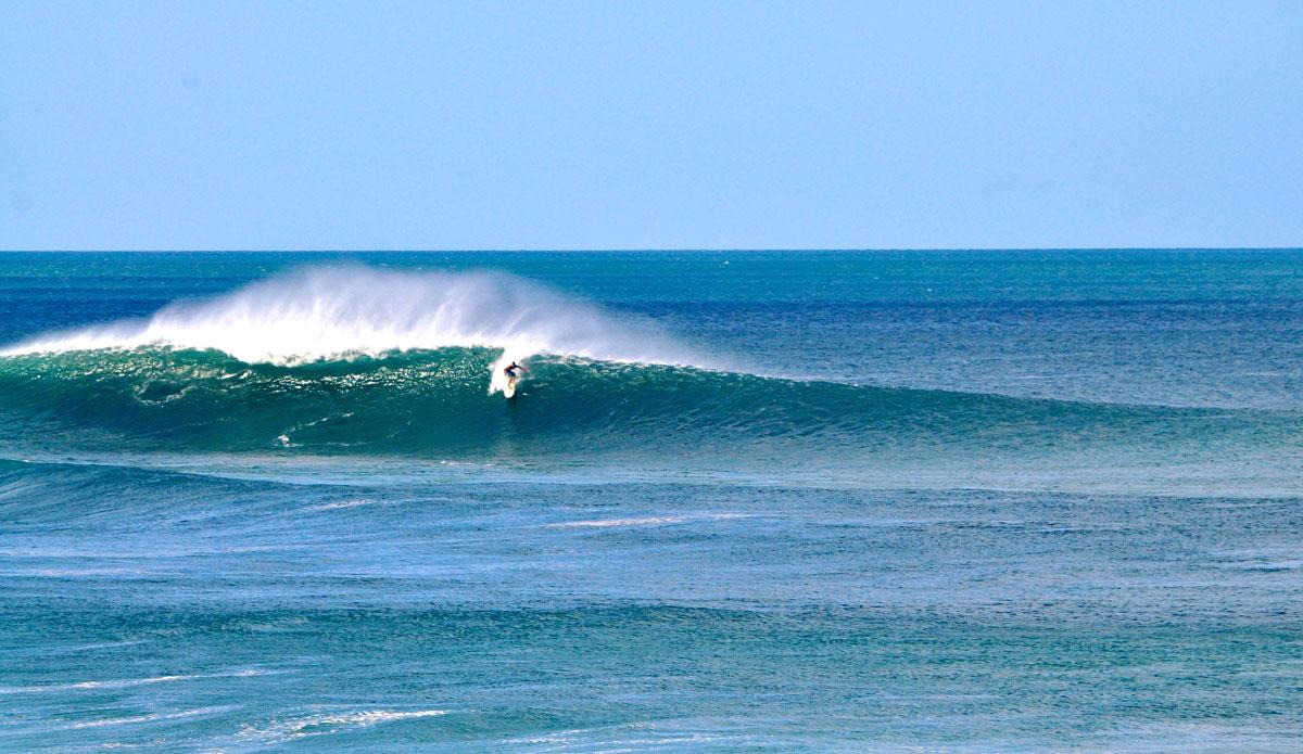 Outer reefs trip up open ocean bombs.