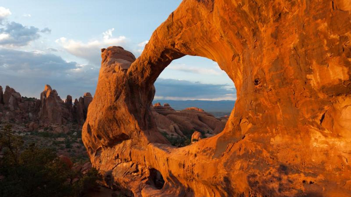 Double O Arch in Arches National Park. Photo: Neal Herbert