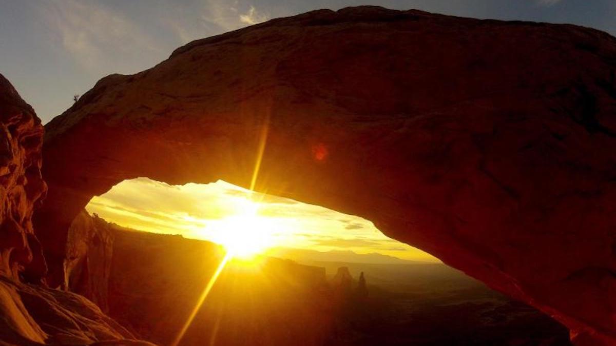 Mesa Arch sunrise in Canyonlands. Photo: Kirsten Kearse