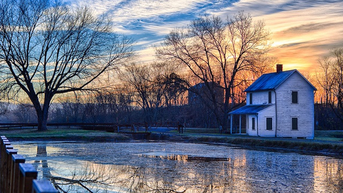 Sunrise over the Chesapeake Ohio Canal. Photo: NPS