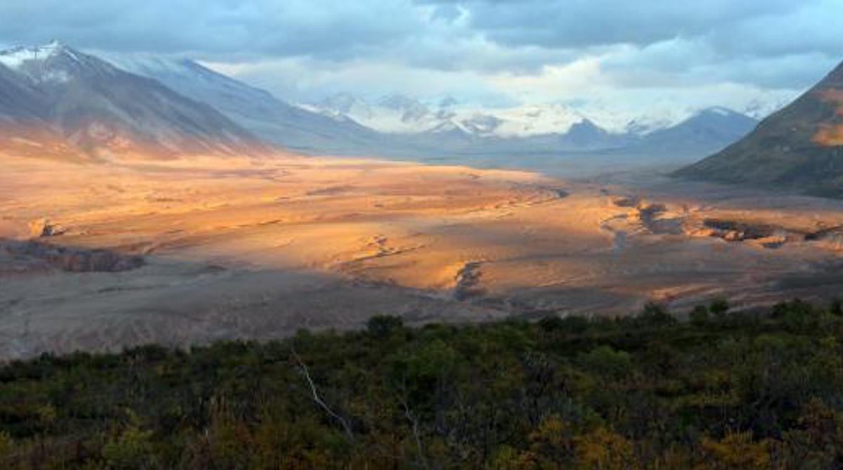 Valley of Ten Thousand Smokes at sunset. Photo: NPS