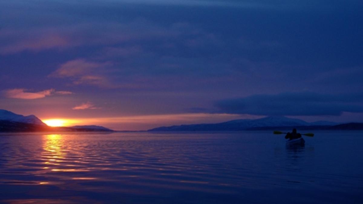 Winter kayaking in Lake Clark. Photo: NPS