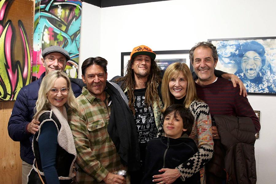 Left to right: Paul Tomson, Tracy Tomson, David Aufrichtig, Jared Aufrichtig, Carla Tomson, Luke Tomson, Shaun Tomson Photo: Jerry Jaramillo