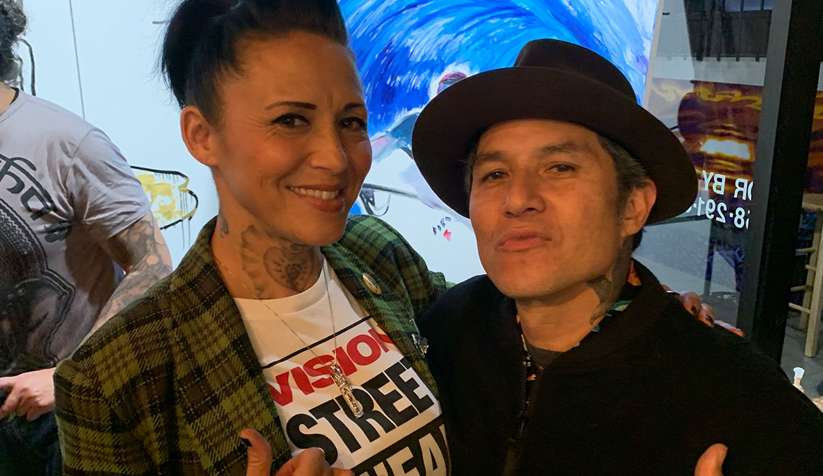 Christian Hosoi and Mama Troy Nowell from Sublime. Image: Supplied