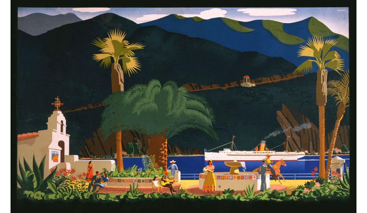 Santa Catalina Island Promotional Poster. Silkscreen Print, Mid-\'30s by Otis Shepard