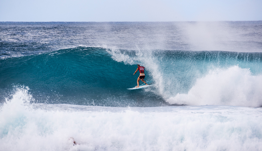 Tyler Wright hasn\'t missed a beat since missing nearly two years of competition. Photo: Brent Bielmann/WSL