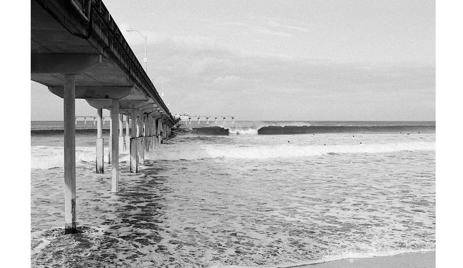 "Ah, the good \'ol pier. Don\'t wear a cord unless you want 30lbs of seaweed wrapped around it.  Nikon fm10, fuji neopan 400 film. Photo: <a href=\""http://fotoburns.com\"">Adam Burns</a>"