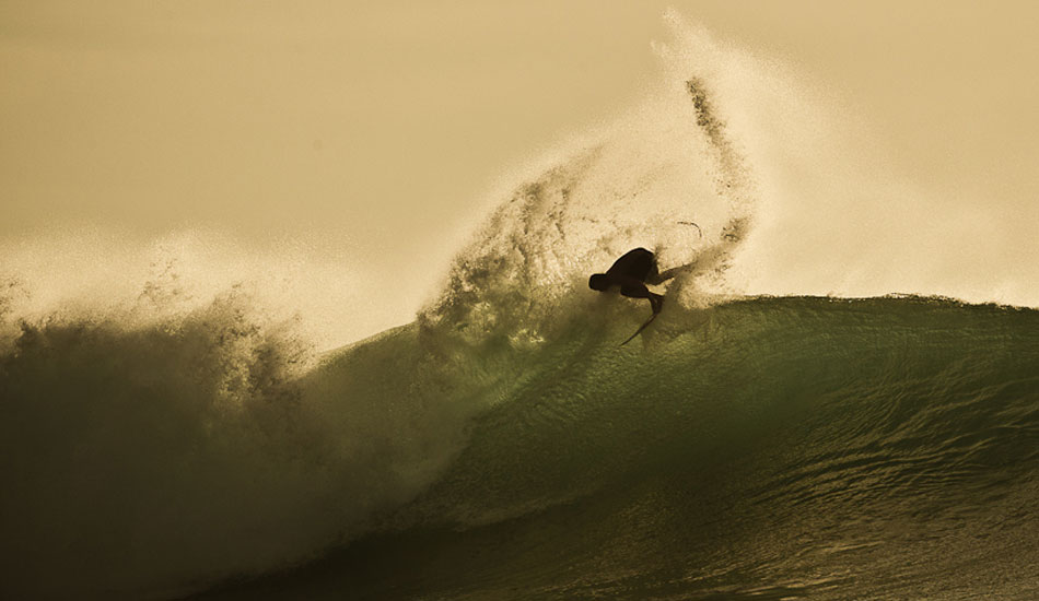 Afternoon light at Padang Padang. What more can you ask for? JOB using it to his advantage. Photo: Brad Masters