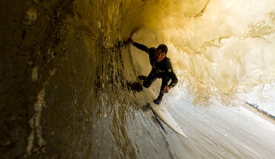 """Ronnie Jackson getting barreled at the cove in Sandy Hook, NJ. Photo: <a href=\""""http://christor.photoshelter.com/\"""" target=_blank>Christor Lukasiewicz</a>"""