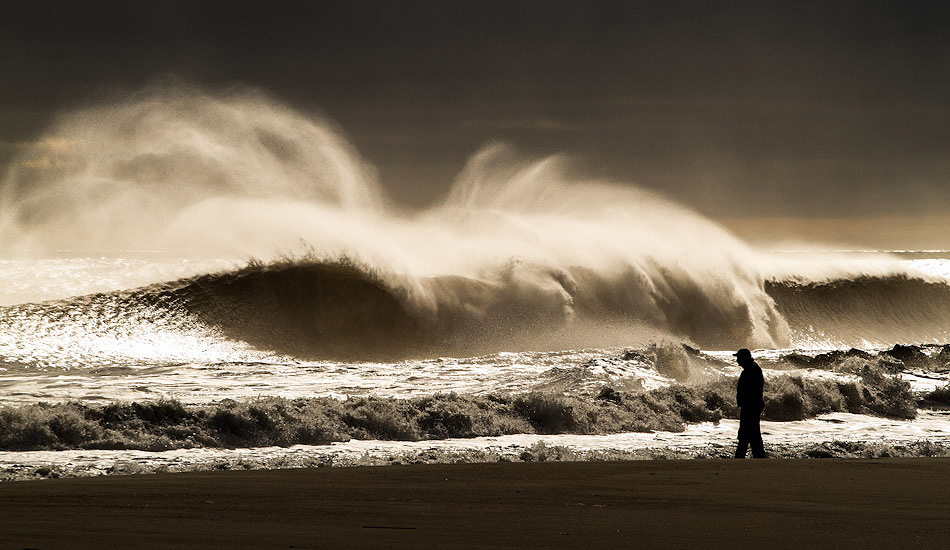 """A classic shot of the Doomsday swell in NJ. The waves started to clean up and the sun came out to create this amazing light show. Photo: <a href=\""""http://christor.photoshelter.com/\"""" target=_blank>Christor Lukasiewicz</a>"""