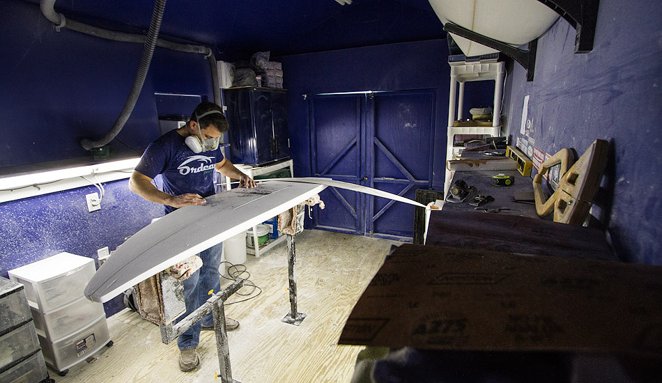 """NJ local shaper Rick DeJianne at Gallery Surfboards crafting a work of art. Photo: <a href=\""""http://christor.photoshelter.com/\"""" target=_blank>Christor Lukasiewicz</a>"""