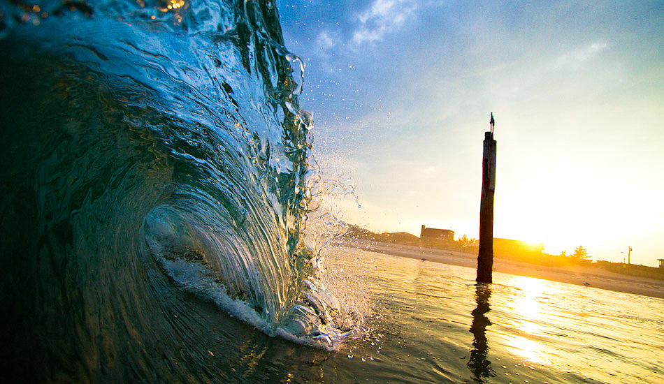 """Late afternoon shorebreak in front of what\'s left of the old Beach Haven fishing pier. Photo: <a href=\""""http://christor.photoshelter.com/\"""" target=_blank>Christor Lukasiewicz</a>"""