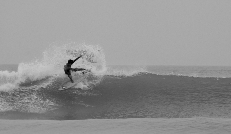 """This is a photo of my friend Segundo. He's always in the water, especially the Piscinas wave - a morning of good vibes and good surfing.   Photo:  <a title=\""""Henry Espinoza Photography\"""" href=\""""https://www.facebook.com/HenryEspinozaPhotography\"""" target=\""""_blank\"""">Henry Espinoza</a>"""