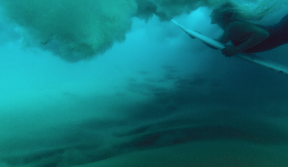 "Going under with Tati Weston-Webb. Photo: <a href=\""https://instagram.com/magsymooo\"">Magi Kernan</a>"