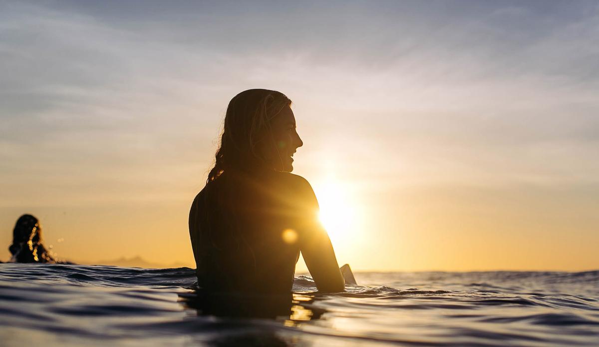 "Sunrise with Nikki Van Dijk. Photo: <a href=\""https://instagram.com/magsymooo\"">Magi Kernan</a>"
