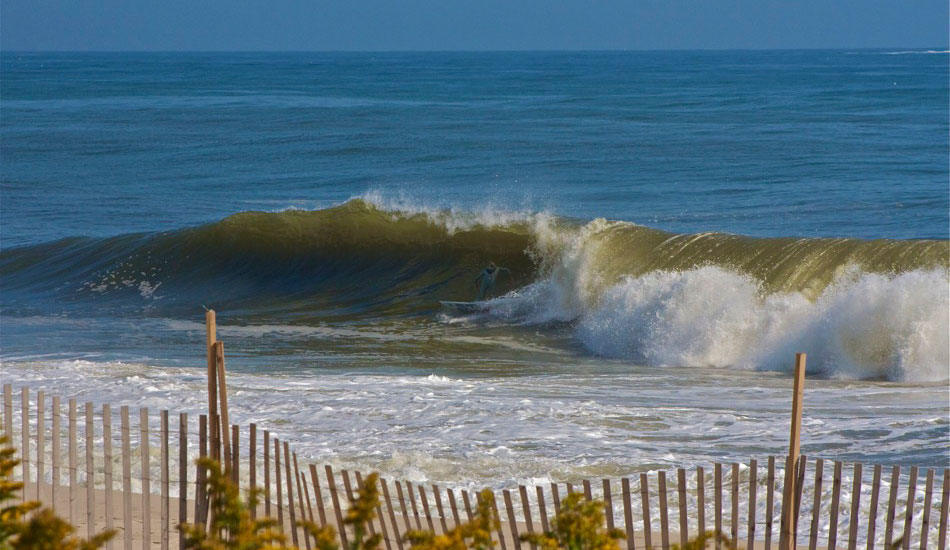 "Tom Petriken pullin\' into a nice barrel in New Jersey. This was a few days before Hurricane Sandy hit the coast. It\'s amazing to see how NJ is bouncing back after such a life changing event. Photo: <a href=""http://shcoleman4.wix.com/wwwstevecolemanphotocom\"">Steve Coleman</a>"