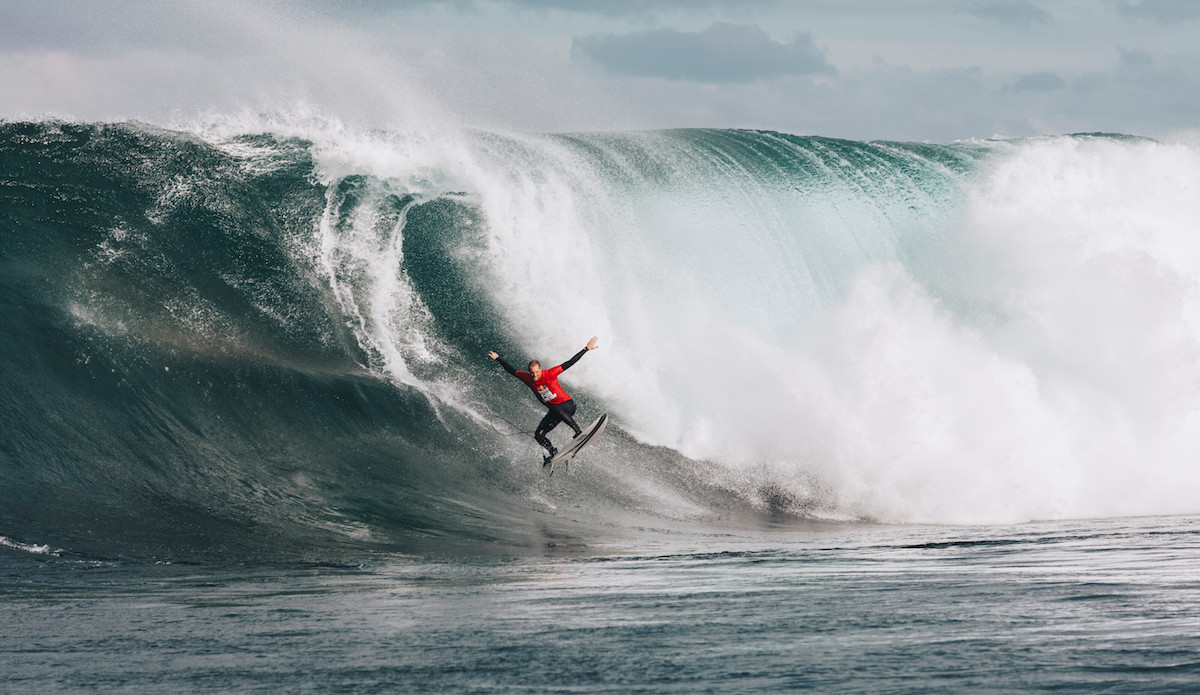 Michael Brennan looking then leaping. Photo: Andrew Chisholm/Red Bull Content Pool