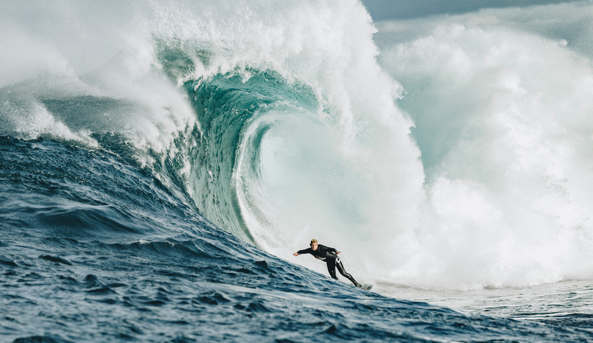 Mick Fanning navigating a bottom turn. Photo: Andrew Chisholm/Red Bull Content Pool