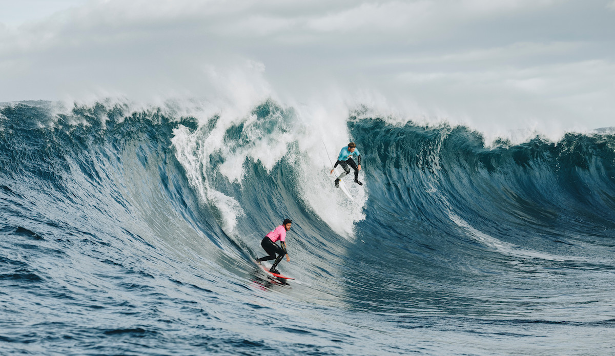 Pedro Scooby and Nathan Florence going tandem. Photo: Andrew Chisholm/Red Bull Content Pool