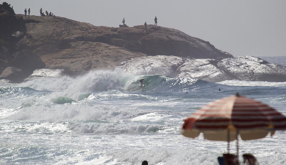 Arpoador, another rocky spot in the corner of Ipanema Beach. Photo: Luiz Blanco