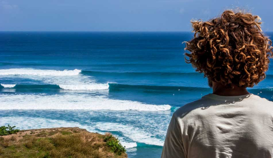 "Surf check in Indonesia. Photo: <a href=""http://anthonyghigliaprints.com/\"" target=_blank>Anthony Ghiglia</a>"