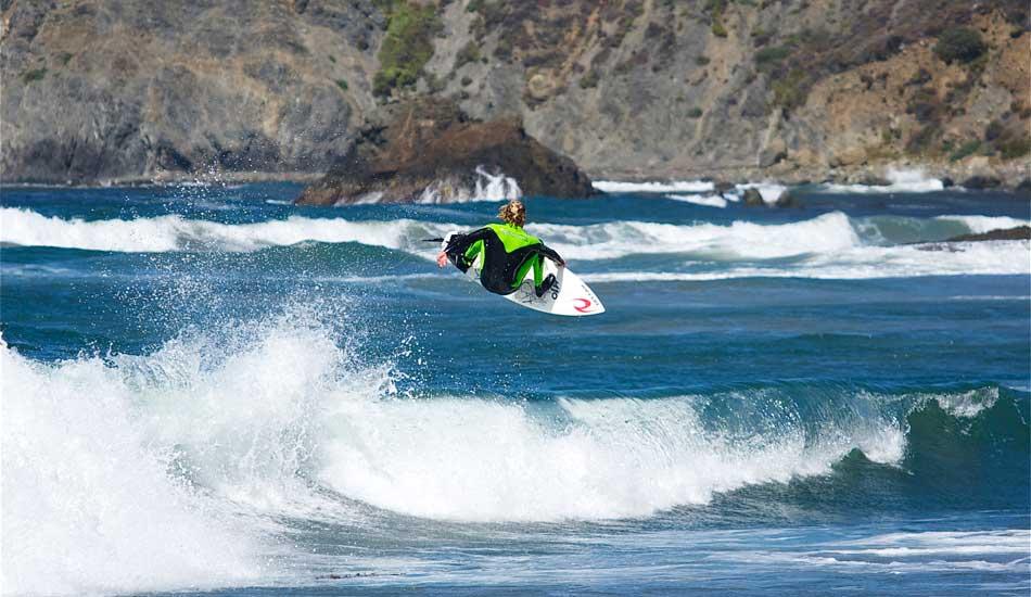 Noah Wegrich reads books, travels, has a cool tent and surfs pretty damn good too. Photo: Robb Wilson