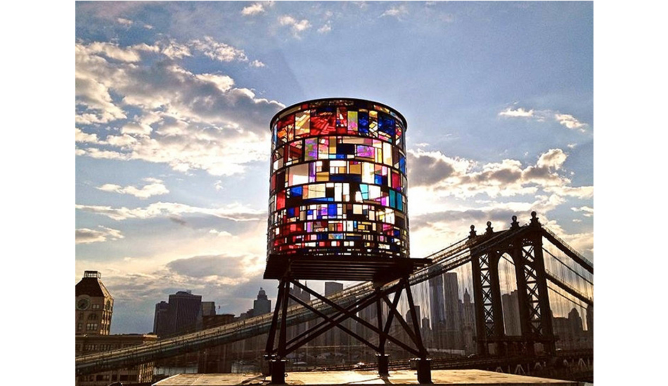 Watertower by Tom Fruin, 2012. C-print.