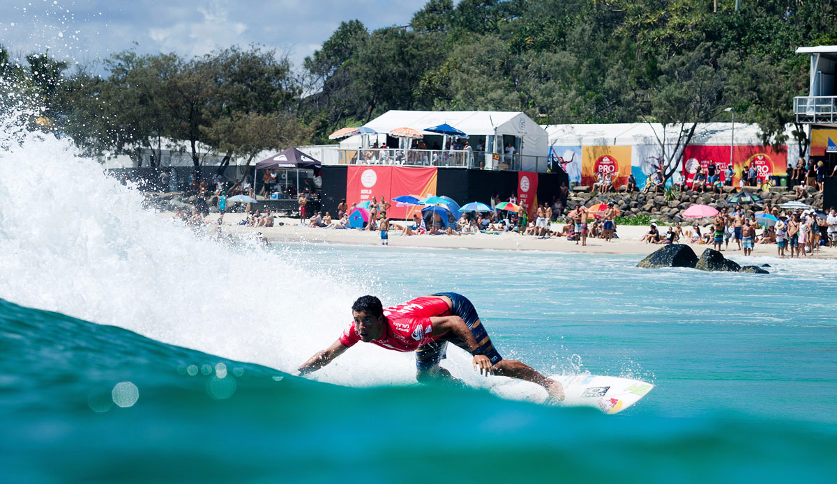 Adriano De Souza Of Brasil Pictured Advanced Into The Quarterfinals Of The Quiksilver Pro