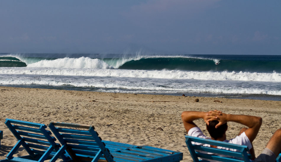Perfect 6 foot Puerto. I hurt myself the day before and was on beach patrol.  Photo: Rusty Long