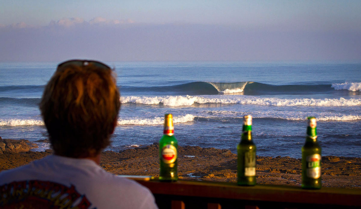 "After barrels, you can finish off with a few beers on the East Coast. Simon Fish liven\' the cruisy life. Photo: <a href=""https://www.facebook.com/pages/Pho-Tye-Studio/\"">Tyerell Jordaan</a>"