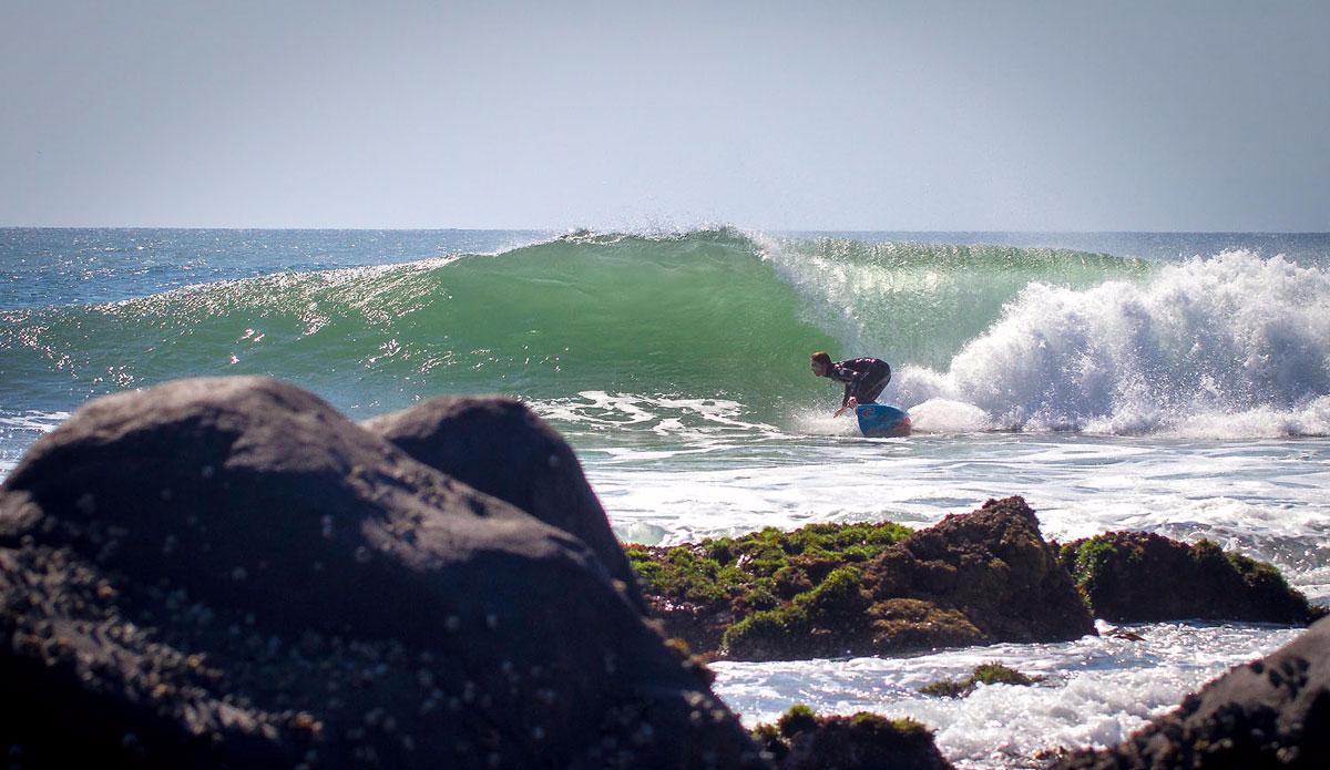 "Point Breaks galore here. It\'s an Eastern Cape trademark. Michael Monk leans in. Photo: <a href=\""https://www.facebook.com/pages/Pho-Tye-Studio/\"">Tyerell Jordaan</a>"