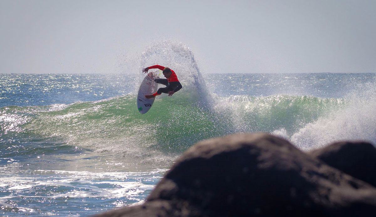 "Greg Emslie blasting through the lip close to his home. Photo: <a href=""https://www.facebook.com/pages/Pho-Tye-Studio/\"">Tyerell Jordaan</a>"