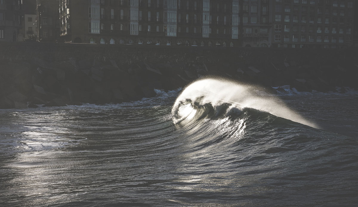 """When Urumea River meets the ocean with big swell, it creates waves too! Yes, surfers come here sometimes. Photo: <a href=\""""http://picsfromwhereyoudratherbe.blogspot.com/\"""">Ale Romo</a>"""