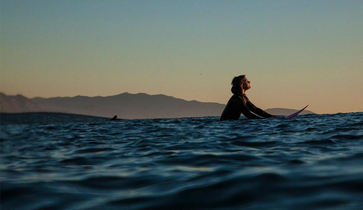 "January 26, 2015 | Bianca Valenti looks for a few final waves before the sun sets on another perfect day at Ocean Beach. Photo: <a href=""http://instagram.com/seasachi/\"">Sachi Cunningham</a>"