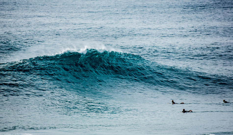 "Two\'s not a crowd when the third is a wave like this. Photo: <a href=""http://anthonyghigliaprints.com\"">Anthony Ghiglia</a>"