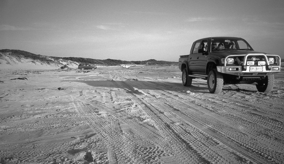 """Some places in Australia, you\'re just better off with a capable 4WD. Some beaches just won\'t let you through in anything else.  This is on Porky\'s Beach, on King Island, In Australia.  Photo: <a href=\""""http://seandavey.com/\"""" target=_blank>Sean Davey</a>"""