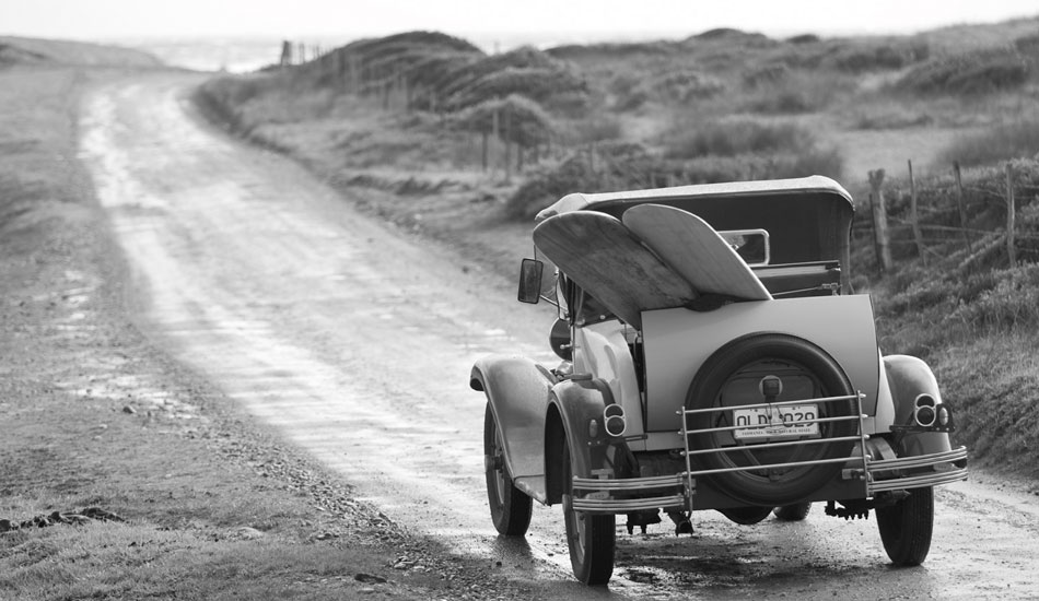 """Another image from my many visits to King Island over the years. There\'s this old fella on the island who owns this classic old 1929 model Chevy.  He let us borrow it for a few photos when we were shooting Musica Surfica shoot in 2007. Photo: <a href=\""""http://seandavey.com/\"""" target=_blank>Sean Davey</a>"""