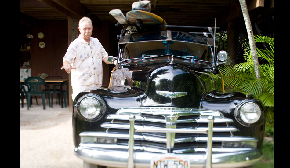 """Long time north shore resident Mike Hemperley and his classic Fleetline.  Photo: <a href=\""""http://seandavey.com/\"""" target=_blank>Sean Davey</a>"""