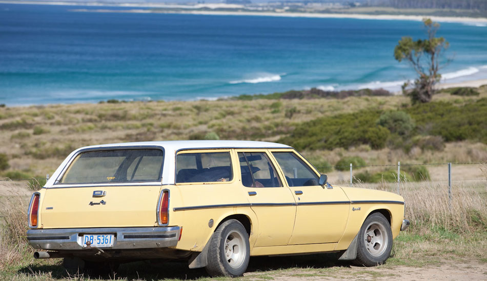 """This is a late \'70s Aussie Holden station wagon.  A very effective mode of surf transport. Photo: <a href=\""""http://seandavey.com/\"""" target=_blank>Sean Davey</a>"""