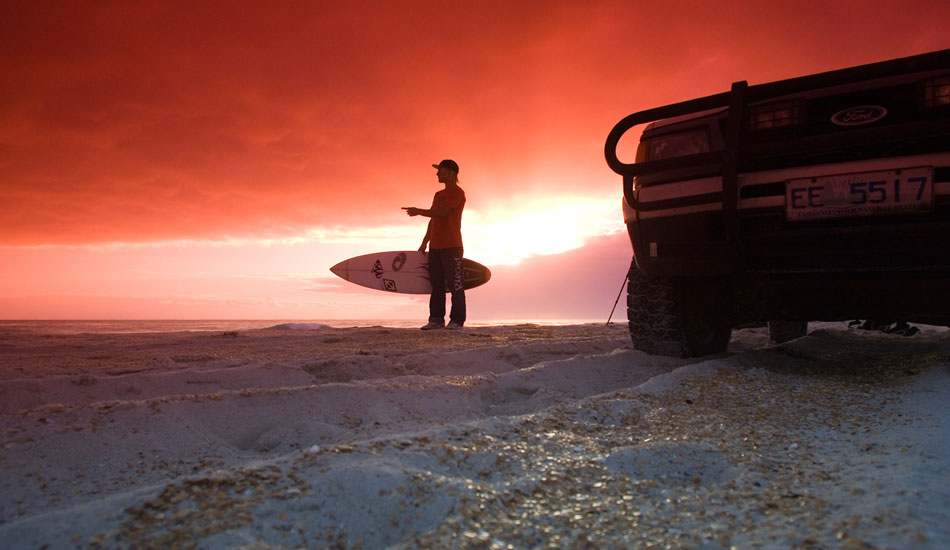 """This is Scott Dunton on a last minute trip to King Island in 2004. I was loving the early morning silhouettes.  Photo: <a href=\""""http://seandavey.com/\"""" target=_blank>Sean Davey</a>"""
