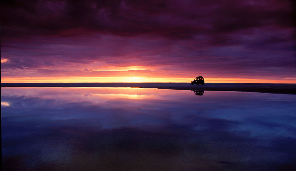 """This was the glorious sunset somewhere way, way off the beaten track on the wild west coast of New Zealand\'s north island.  Photo: <a href=\""""http://seandavey.com/\"""" target=_blank>Sean Davey</a>"""