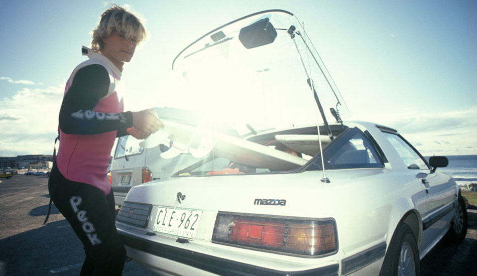 """I spotted Occy getting ready for a surf at Bondi beach one morning back in the mid \'80s.  He was driving Rabbit\'s RX7 with Queensland license plates. Photo: <a href=\""""http://seandavey.com/\"""" target=_blank>Sean Davey</a>"""