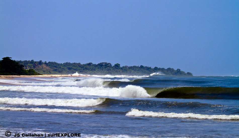 """Gabon. The excellent and virtually unsurfed left point at Mayumba is threatened by a gigantic China-funded iron-ore export facility. Photo: Callahan/<a href=\""""http://www.facebook.com/pages/SurfEXPLORE/153813754645965\"""" target=_blank>SurfExplore</a>"""